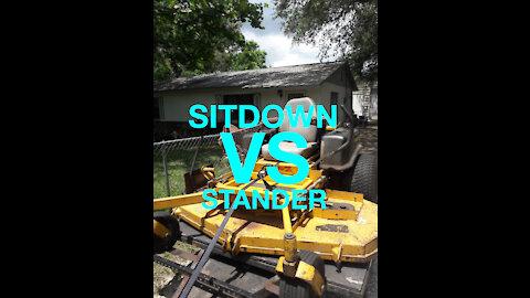 SITDOWN mower Vs Stander