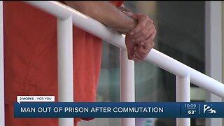 Man out of prison after commutation