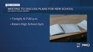 Plans discussed for new Estero school