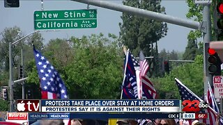 Protests take place over stay at home orders