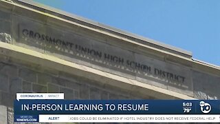 GUHSD in-person learning to resume