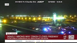 One killed in I-10 wrong-way crash