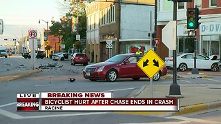 Police chase leads to multi-vehicle crash in Racine