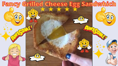 Fancy Grilled Cheese Egg Sandwhich - Easy Fun and Delicious!
