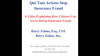 Qui Tam Actions Stop Insurance Fraud