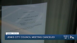 Jenks cancels mask mandate meeting due to COVID-19 safety concerns