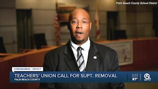 Teachers union calls for Palm Beach County superintendent to be removed