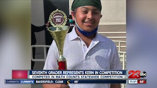 Local Bakersfield student represents kern county in a statewide math competition