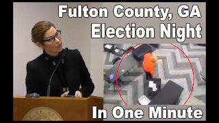 Fulton County Election Night in One Minute