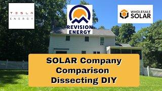 Tesla and Solar company comparison Nh Area
