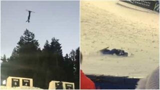 Episk fall under VM på ski