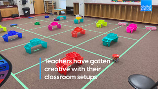 Teachers have gotten creative with their classroom setups