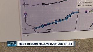 Massive I-94 construction projects will impact drivers from Detroit Metro Airport to downtown