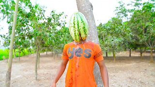 People Fighting due to Watermelon Funny Video