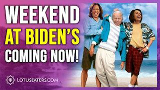 A weekend with Biden