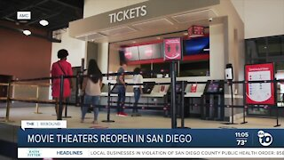 Movie theaters reopen in San Diego