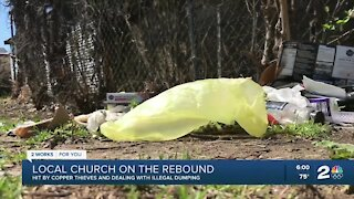 Local church hit by copper thieves, illegal dumping