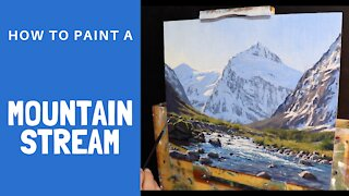 How to Paint a MOUNTAIN STREAM