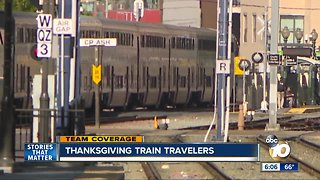 Train travelers try to avoid traffic