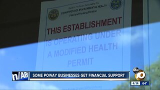Some Poway businesses get financial support after boil water order