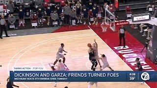 Dickinson and Garza: friends turned foes as Michigan hosts Iowa