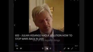 In 2011, Australian Julian Assange Had A Solution How to Stop Wars.