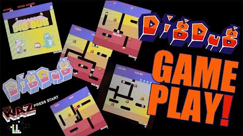 Dig Dug Arcade Game Play