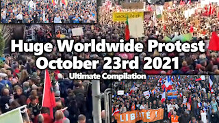 Massive Worldwide Freedom Rally Compilation: France, Italy, Switzerland, Australia, USA & MORE