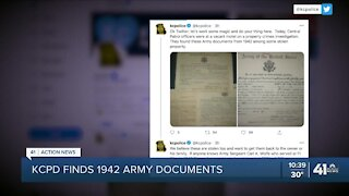 KCPD finds 1942 Army documents