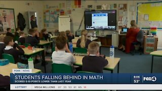 Study shows students poorly perform in math