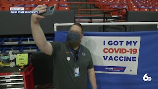 Boise State vaccinates 900 students against covid-19