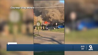 Homeowner hospitalized after dramatic fire