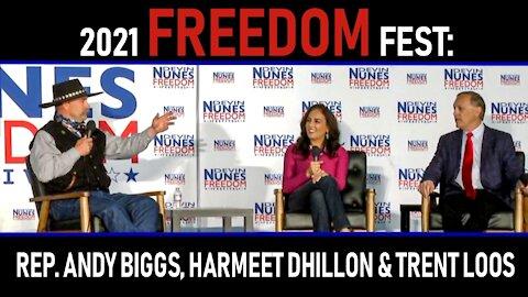 2021 Freedom Fest: Rep. Andy Biggs, Harmeet Dhillon & Trent Loos