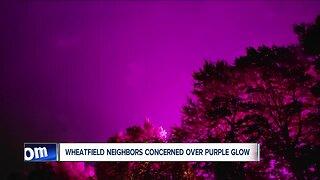 Wheatfield neighbors concerned over purple glow