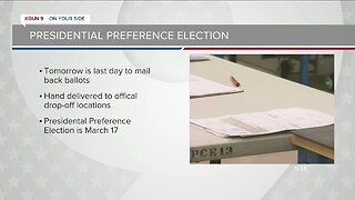 Deadline to mail-in early ballots for Arizona presidential preference election is Wednesday
