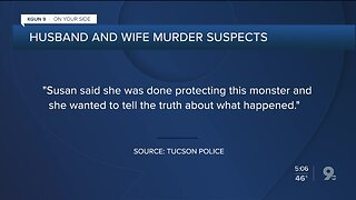 Husband and Wife murder suspects: Threats and a coded message