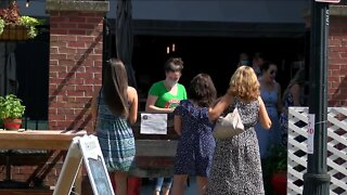 First weekend of expanded outdoor dining on Chippewa