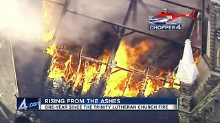 One year ago: Milwaukee's Trinity Lutheran Church goes up in flames