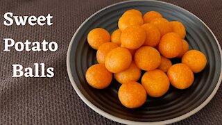 Taiwanese Night Market Snack/ Sweet Potato Ball/ 地瓜球