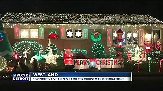 Real-life Grinch vandalizes Westland family's bright Christmas display