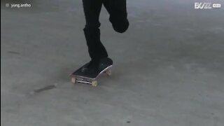 Fadiga leva a melhor sobre skater