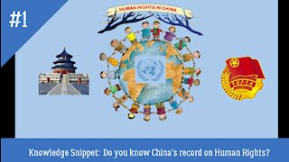 CHINA AND HUMAN RIGHTS