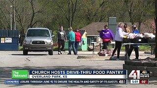 Church hosts drive-thru food pantry