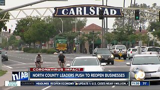 North County leaders make push to reopen businesses