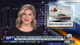 Coast Guard seeks 2 missing from capsized vessel off Palm Beach County