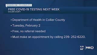 Collier County COVID testing next week