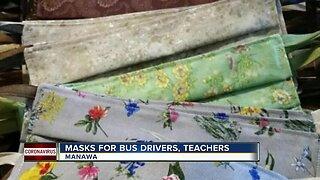 Masks for bus drivers, teachers