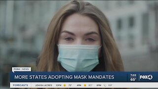 More mask mandates in the US