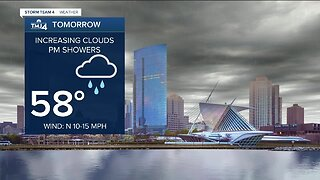 Increasing clouds Monday, then afternoon showers