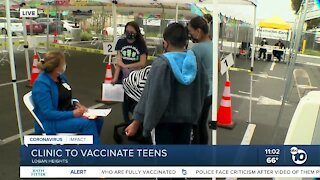 Logan Heights clinic offers vaccines for teens